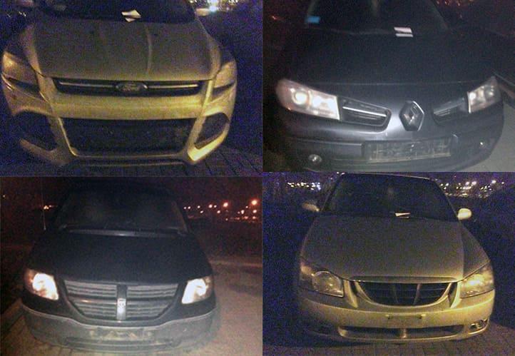 На парковке в Минске с машин украли номера