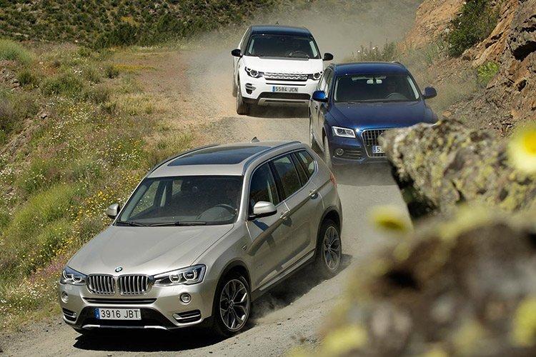 Audi Q3 vs BMW X3 vs Land Rover Discovery Sport: битва за паркетную корону