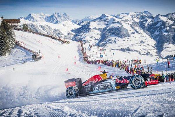 """Пилот """"Формулы-1"""" протестировал болид нагорнолыжной трассе"""