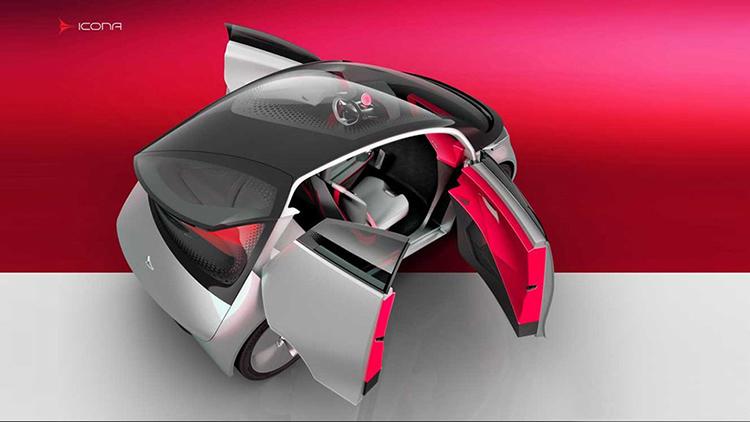 Icona представила прототип электромобиля Neo с асимметричным дизайном