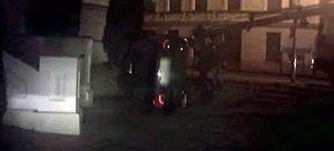 Погоня в Гродно: Ford бесправника опрокинулся у порога костела