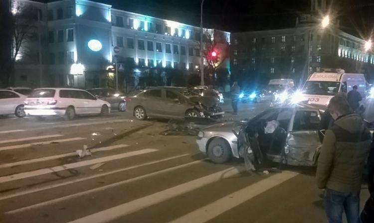 ДТП с участием трех авто произошло вчера на проспекте Независимости