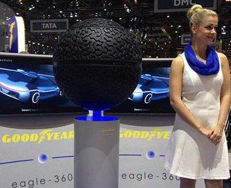 Компания Goodyear представила шины, имеющие форму сферы