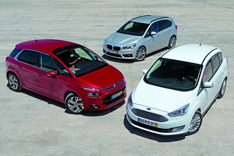 BMW-2 Active Tourer vs Citroen C4 Picasso и Ford C-Max: премиум или ширпотреб?