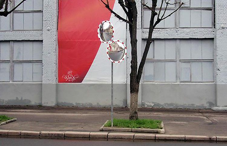 В Минске установили дорожные зеркала для водителей