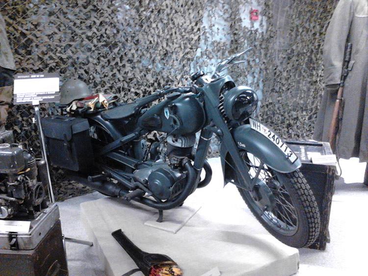 Ретромотоциклы – экспонаты выставки «Следы войны»