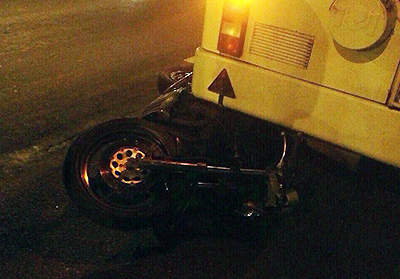 В Минске погоня ГАИ за мотоциклистом закончилась аварией