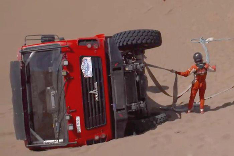 На этапе «Шелкового пути» в пустыне Гоби МАЗ прошел испытание на прочность
