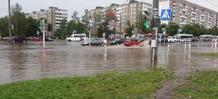 26 июля Минск опять залило ливнем