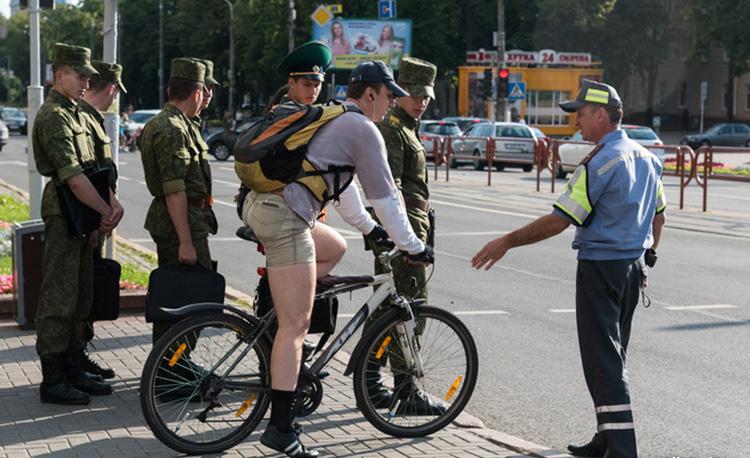 ГАИ Минска провела специальный велосипедный рейд