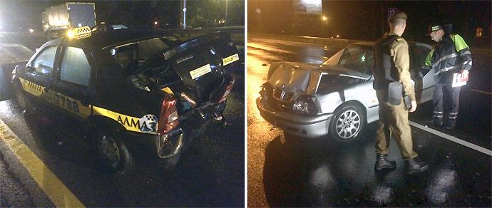 На МКАД BMW столкнулся с двумя автомобилями