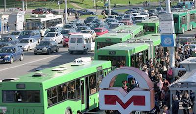 В Минске хотят автолюбителей пересадить на общественный транспорт