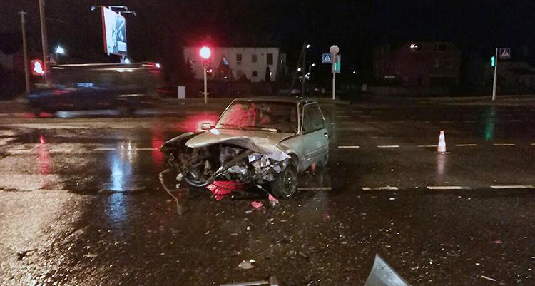 В Минске в результате ДТП пострадало семь человек