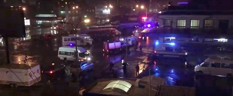 Ложное минирование Брестского автовокзала. Видео эвакуации