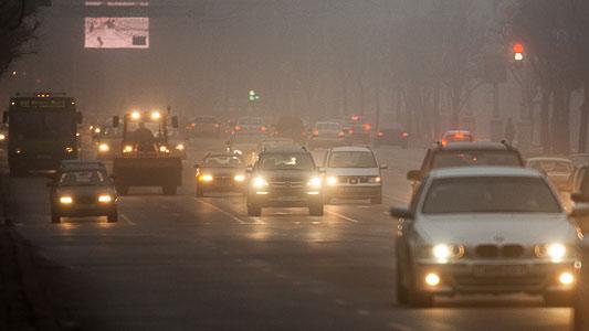 Туманы и слабые заморозки: рекомендации водителям