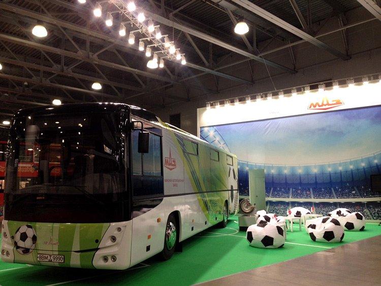МАЗ создал новый автобус для чемпионата мира по футболу 2018 года
