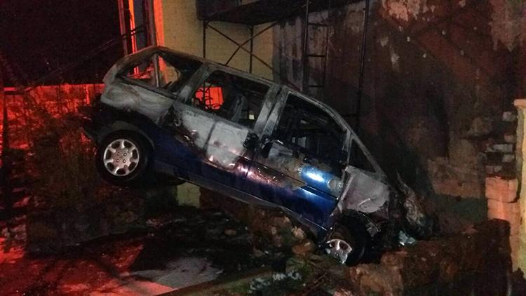 В Смолевичах после ДТП автомобиль загорелся: водитель погиб