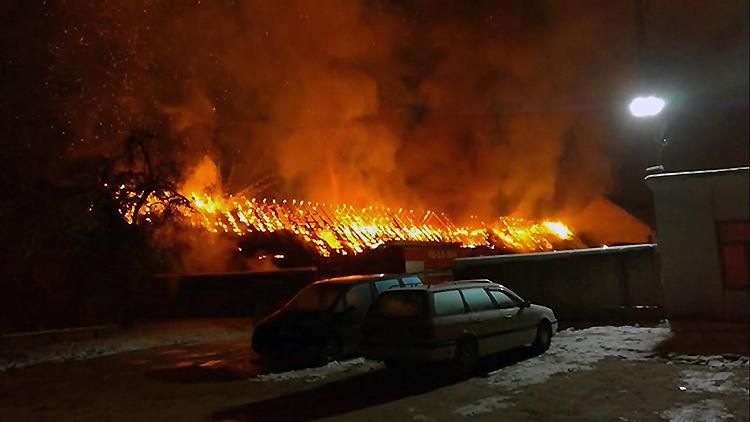 В Гродно горели ангары с машинами
