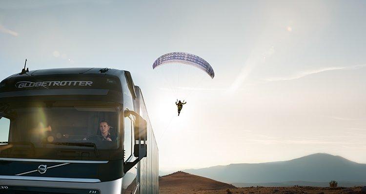 «Летающий пассажир» от Volvo Trucks