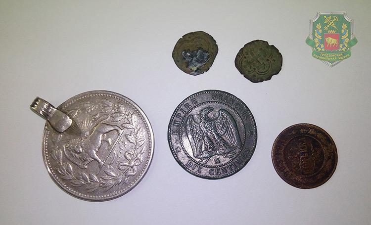 В пункте пропуска «Привалка» изъяты cтаринные монеты
