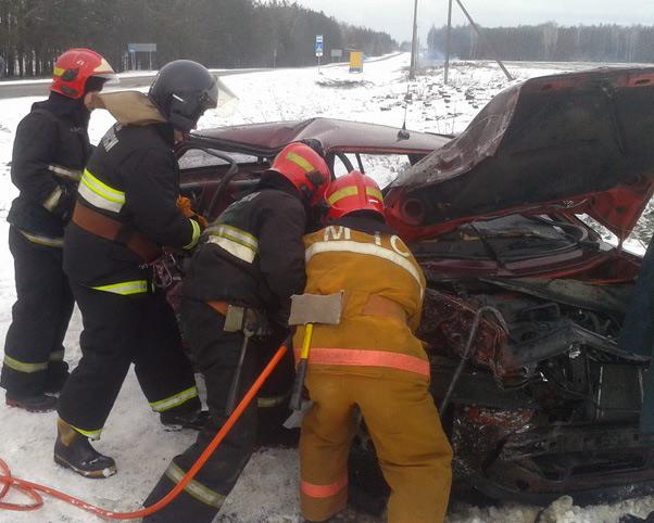 В Минской области столкнулись два Volkswagen