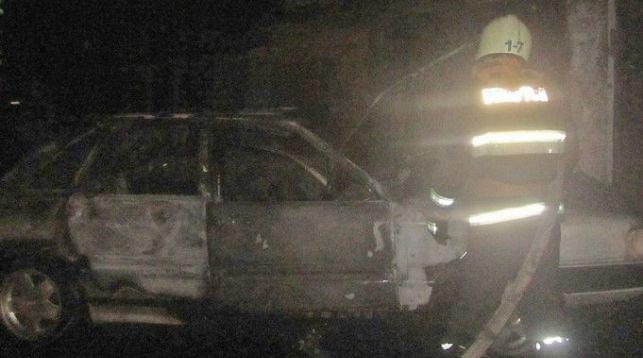 В Гродно в гараже загорелся Audi 100