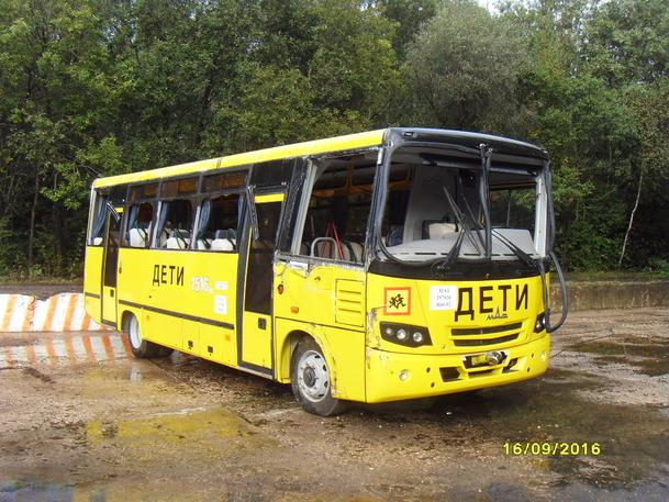 Школьный автобус МАЗ прошел краш-тест