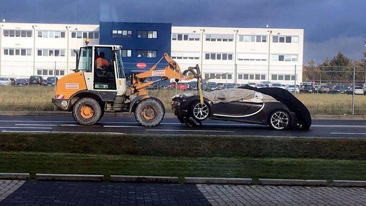 Bugatti Chiron разбился на тестах