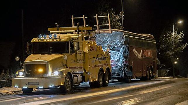 В Польше белорусский пассажирский автобус попал в ДТП