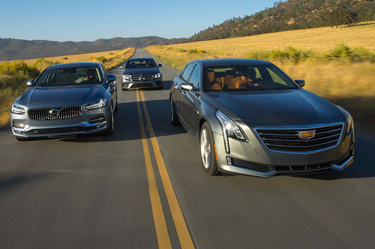 Cadillac СT6, Mercedes-Benz E и Volvo S90: кто американцу всех милее?