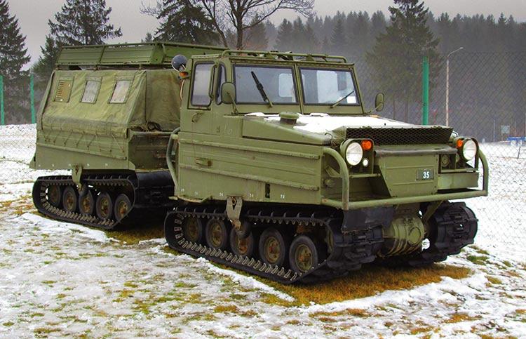 Volvo Bandvagn 202 – гусеничный транспортер шведского производства