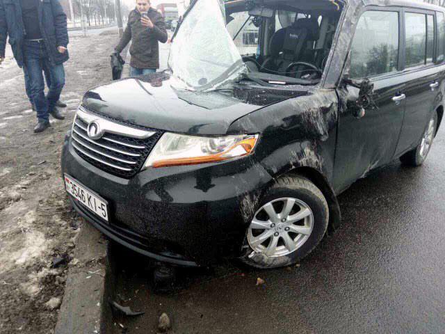 Необычная авария на проспекте Жукова в Минске
