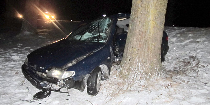 В Пуховичском районе опрокинулся Opel