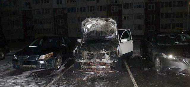 В Минске горело несколько машин