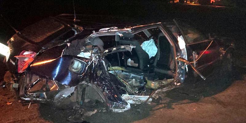 На МКАД Audi A4 врезался в столб: погиб молодой человек