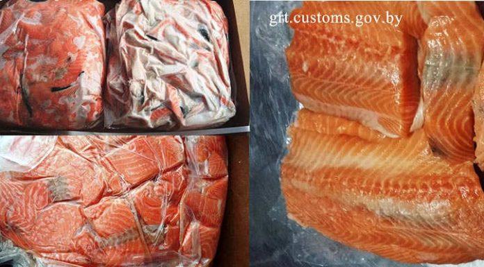 Партию атлантического лосося изъяли гродненские таможенники