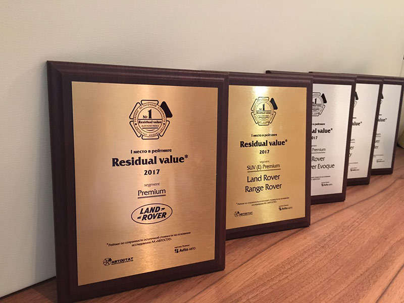 Jaguar Land Rover отметили в пяти номинациях Residual Value-2017