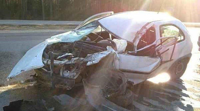 На трассе Минск-Гродно девушка врезалась в машину дорожной службы