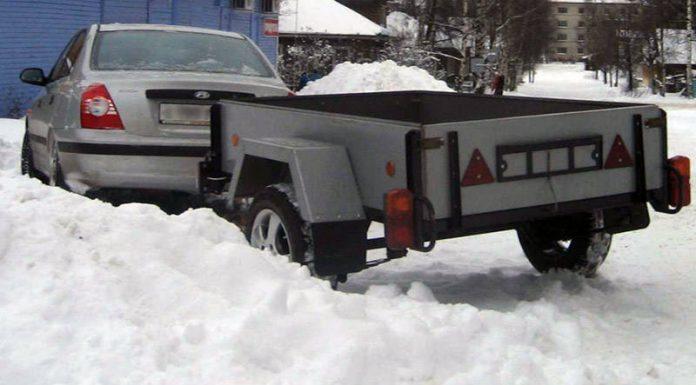 Зимние шины на прицепе