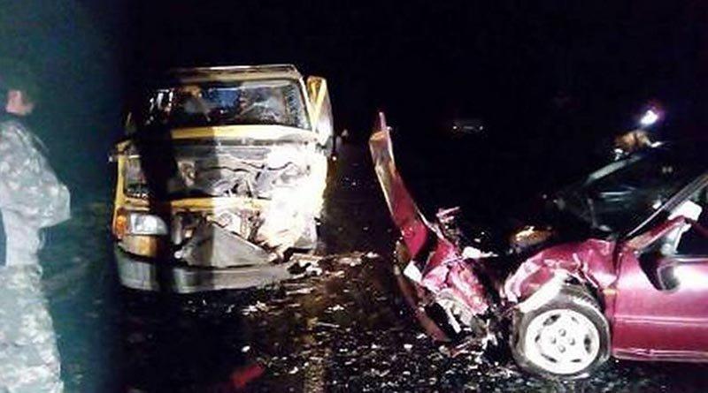 Лобовое столкновение «Киа Сефия» и «Форд Транзит» в Березовском районе