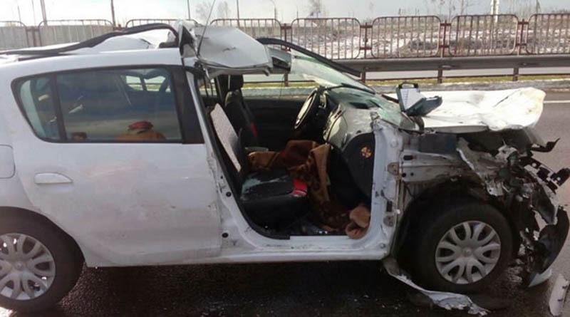 В Минском районе женщину после ДТП зажало в автомобиле
