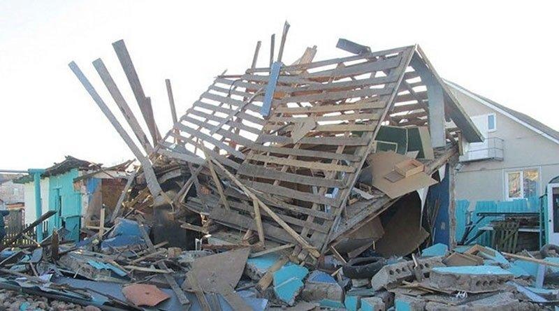 Взрыв в гараже в Столбцах