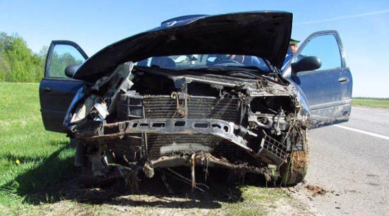В Шумилинском районе автомобиль съехал в мелиоративный канал