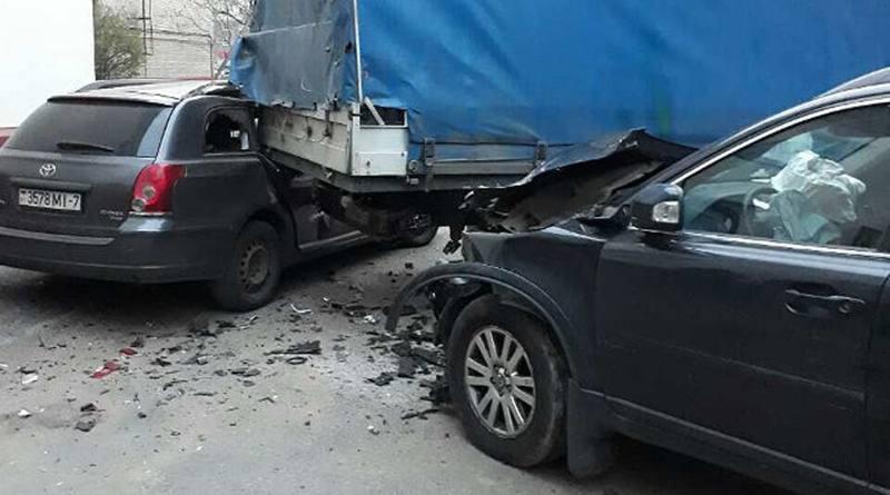 В Минске один пьяный мужчина повредил 7 автомобилей