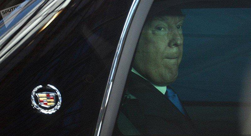 Кадиллак «Beast» Трампа не смог заехать в брюссельский королевский дворец