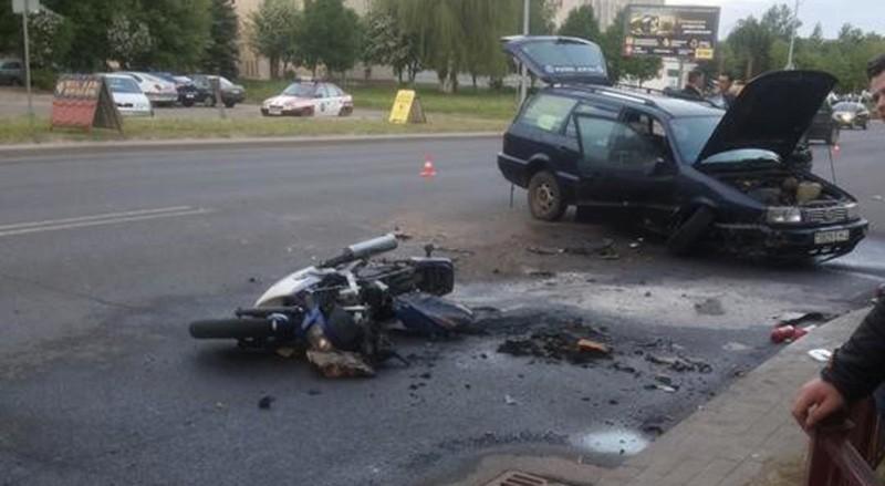 В Лиде в результате ДТП погиб мотоциклист