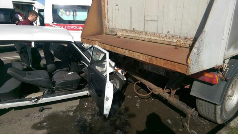 В Минске служебный автомобиль РУВД попал в ДТП