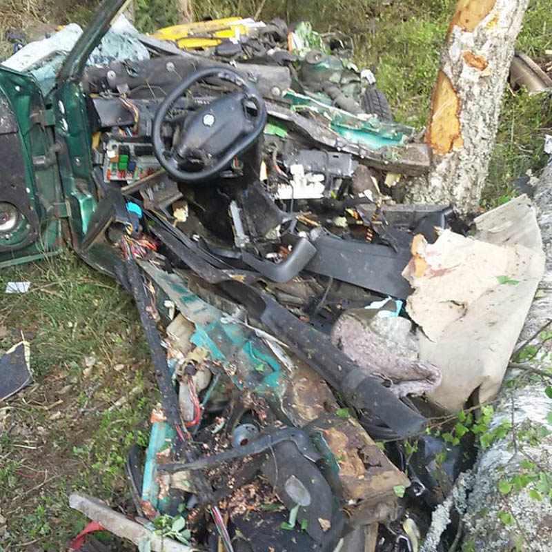Под Жодино разорвало автомобиль