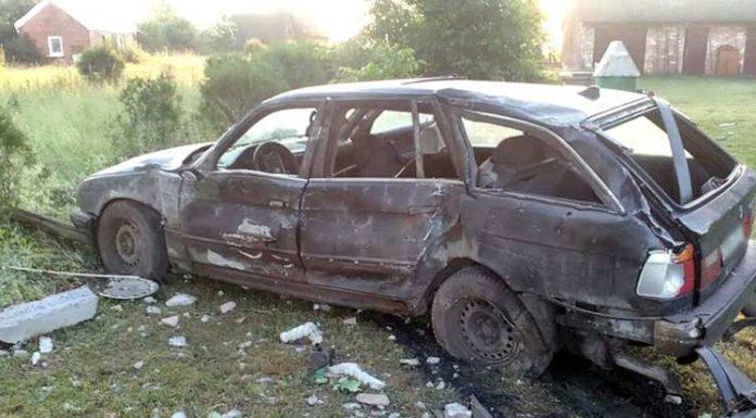 В Кобринском районе «БМВ» врезался в столб. Водитель погиб.