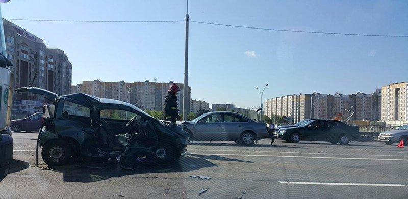 В Минске в Уручье произошло серьезное ДТП
